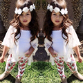 2017 Baby Girl Clothes Summer Baby Gril Clothing Sets Cotton Short Sleeve 3Pcs Kids Baby Girl Clothes Children Suit+Vest+Pants