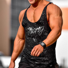 2018 new Mens Fitness bodybuilding Tank Tops workout Sleeveless shirts Fashion cotton vest undershirt male Brand clothing