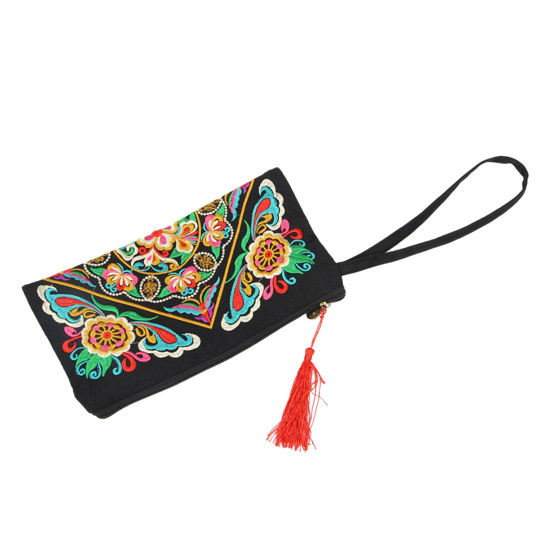 And Good Quality Canvas Wallet Embroider Purse Clutch Mobile Phone Bag Coin Bag-Galsang Flower Nice Bags