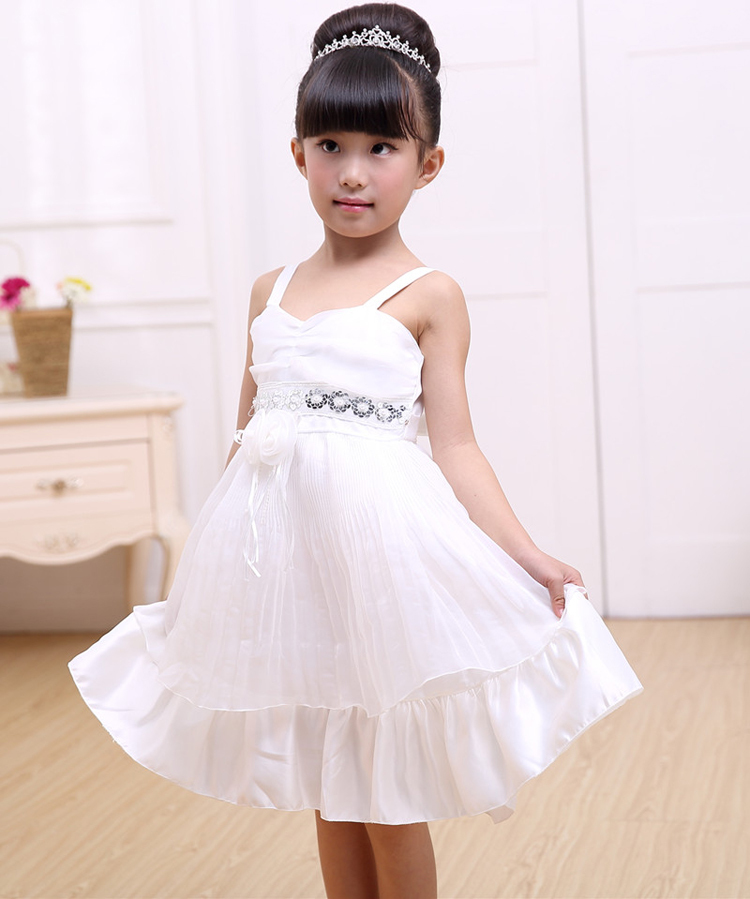 White Wedding Wear Chiffon Soft Summer Beautiful Cute 3 5