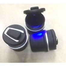 1PC Portable Auto Car Truck LED Cigarette Smoke car Ashtray Blue LED Light Smokeless Ashtray Cigarette Holder Anti-slip Rubber