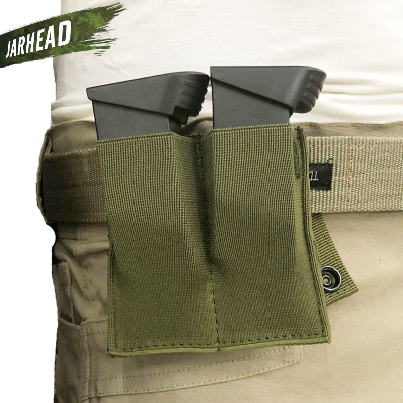CQC Magazine Pouch Close Holster Nylon Tactical Molle Dual Double Pistol Mag For Outdoor Airsoft Combat Military Hunting