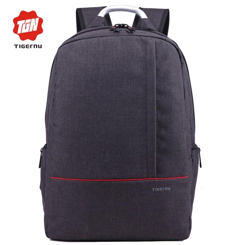 ФОТО Tigernu Brand Black Men's Backpack Large Capacity Mochilas Escolar Casual for Men Notebook Laptop Bagpack 15.6 laptop bag