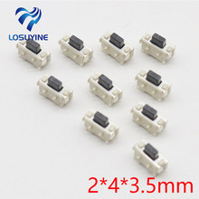 10pcs 2x4 2*4*3.5 MM Micro SMD Tact Switch Side Button Switch MP3 MP4 MP5 Tablet PC #DSC0039(China)