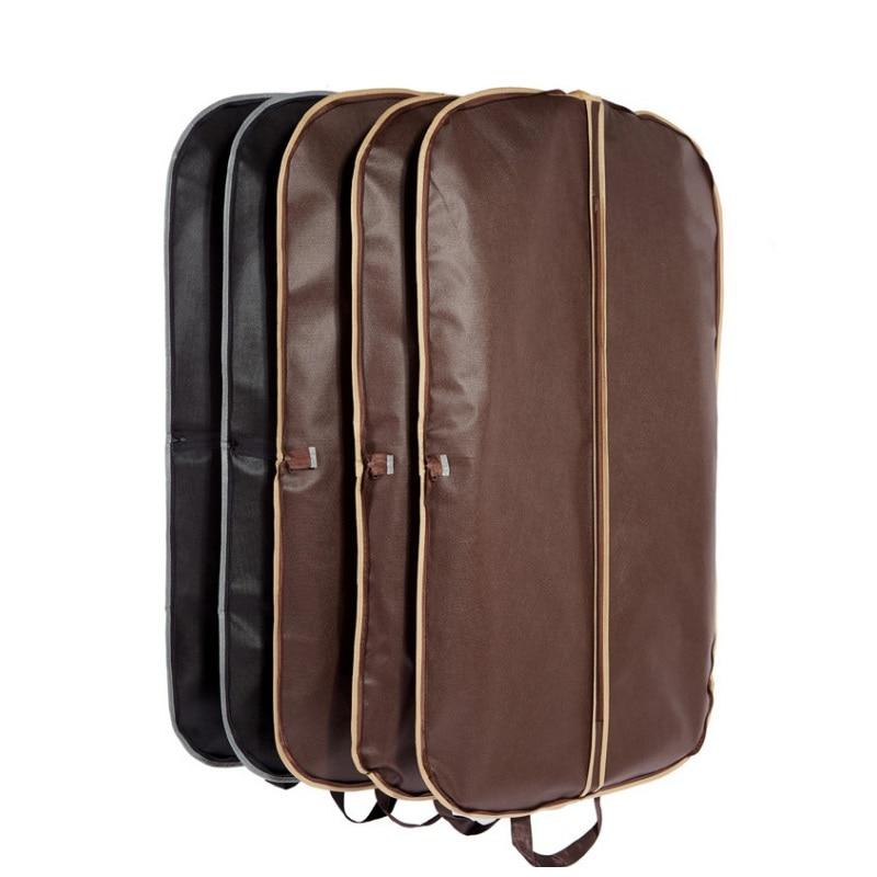 120cm Men Suit Cover Bags Clothes Hanging Protector Suit Garment Dust Covers Travel Coat Cover Case Zipper Storage Pouch