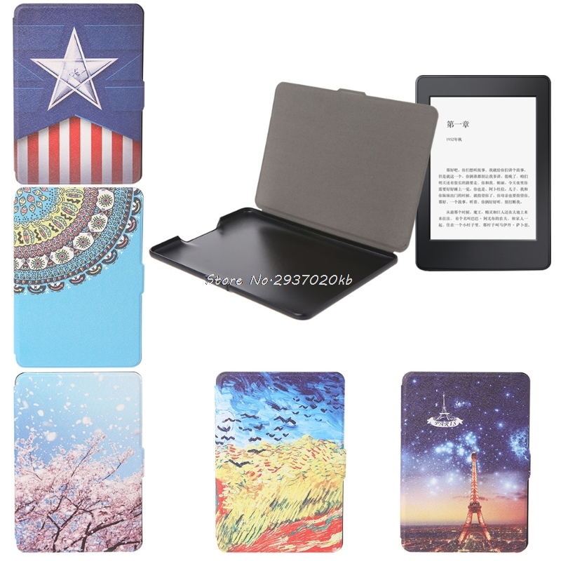 Leather Protective Skin Cover Tablet Case For Amazon Kindle Paperwhite 1/2/3 HULL4 camo leather magnetic smart cover case for amazon kindle paperwhite 1 2 3 2013 cover case 1pcs