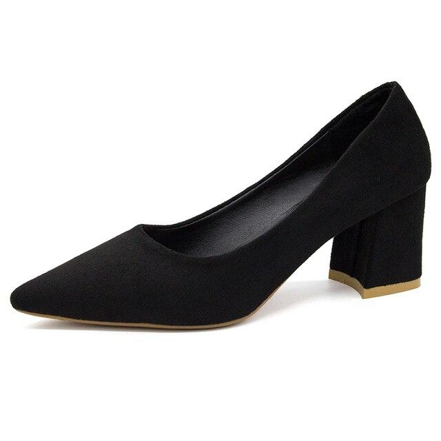 Las mujeres zapatos de punta bombas rebaño de ocio Zapatos de vestir Zapatos de barco, zapatos de boda, zapatos superficial OL Slip en las bombas dedo del pie