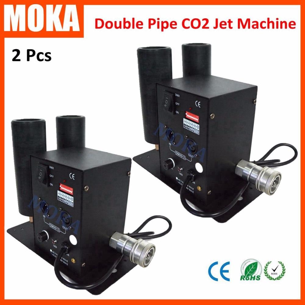2 pcs lot Double Pipe CO2 Jet font b Machine b font dmx stage special effect