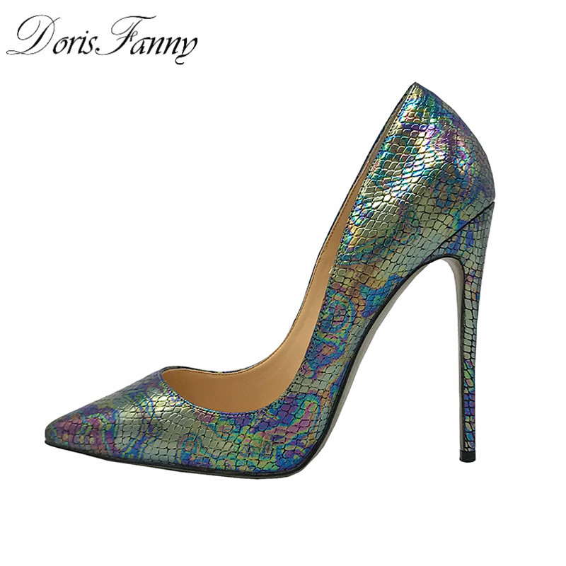 DorisFanny Women Pumps Shoes Office Lady Pointed Toe Sexy High Heels designer shoes women luxury 2018 women pumps sexy office lady shoes extreme high heels stiletto suede shoes women heels fashion pointed toe pumps ladies shoes