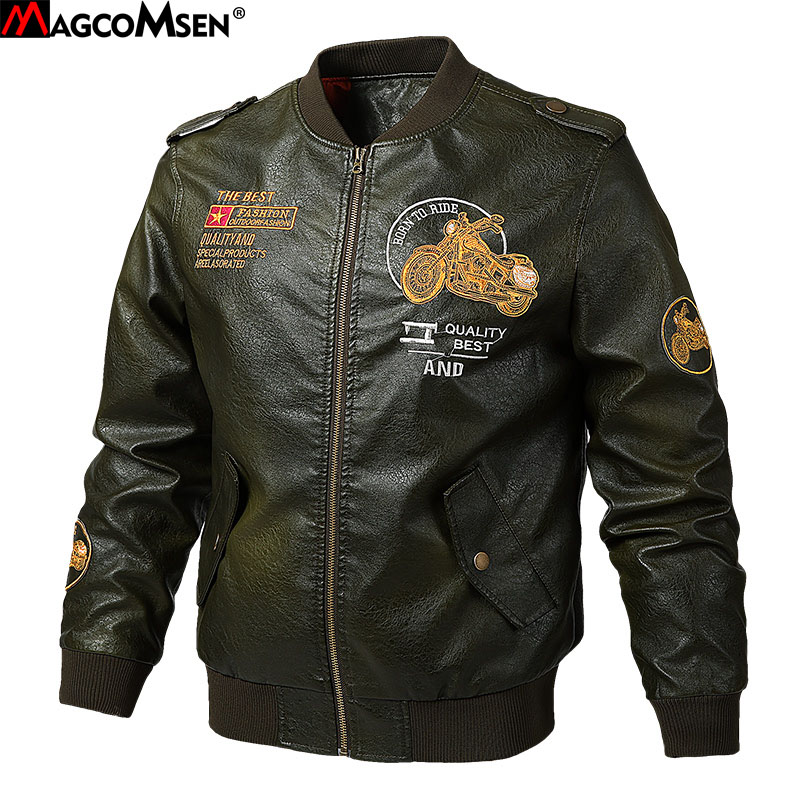 DAVYDAISY New Arrival 2018 Autumn Winter Fashion PU Leather Men Jacket Gentleman Elegant Coat Men Coat