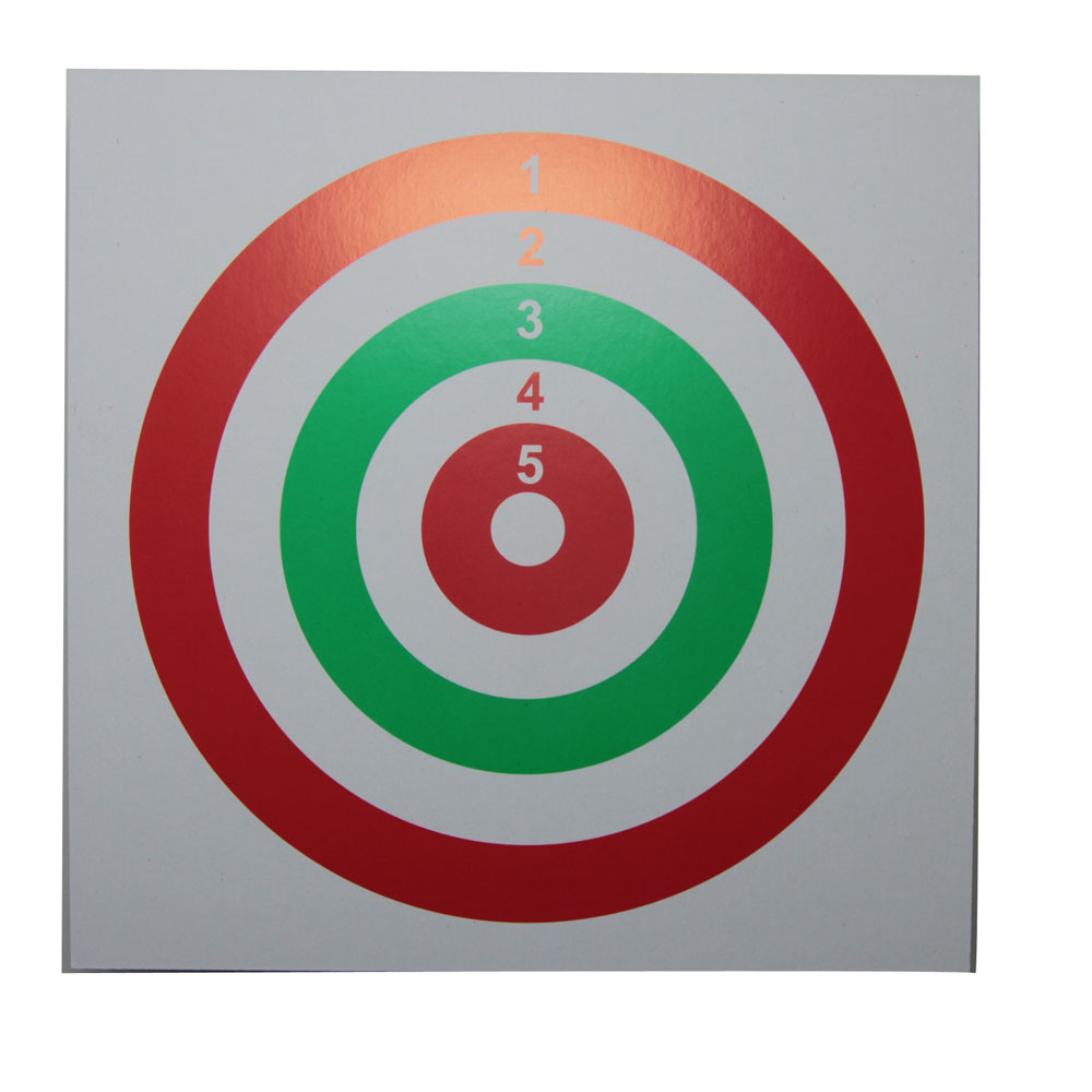 It is a graphic of Divine Target Practice Sheets