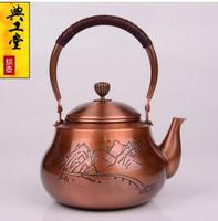 2018 new 1.5L Teapot purple copper pot good water copper kettle water heater hand made pure copper no coating