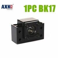 AXK Black color SFU2505 ballscrew support BK17 for BALL screw Diameter= 25mm 2505 SFU2510 2525 MADE IN CHINA BK17