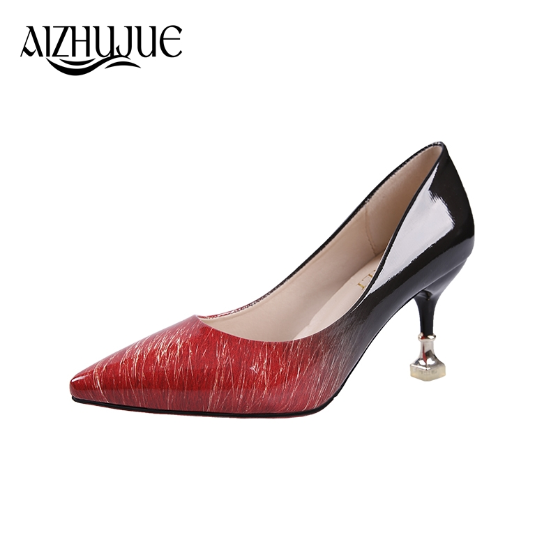 MS 2018 Women pumps Fashion pointed toe patent leather stiletto high heels shoes Spring Summer Wedding Shoes woman high heels essentials of geology 3e ebook folder