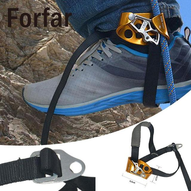 Climbing Right/Left Foot Ascender Rock Climbing Mountaineering Device