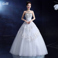 Elegant Red Wedding Gowns Long 2018 Sexy Wedding Dress Formal Bridal Dresses Ivory Appliques Beading Crystal