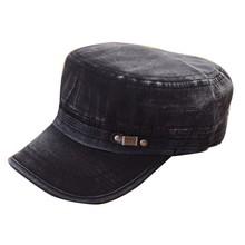 Fashion Men Summer Cadet Military Cap Adjustable Classic Army Plain Vintage Hat
