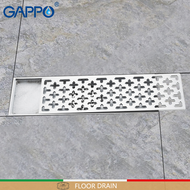 GAPPO Drains Anti-odor shower Drain Strainer rectangle floor cover brass bathroom Drain drainers stopper shower floor drains