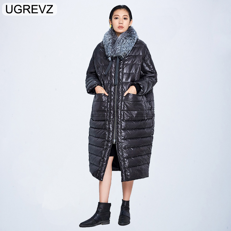 Winter Jacket Women 2018 Fashion European Design Warm Big Fur Female Loose Jacket Women Coat Down   Parkas   Long Outerwear Clothing