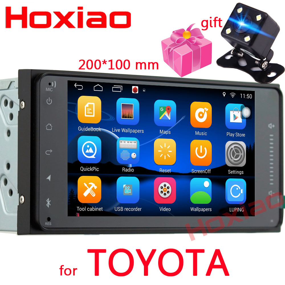 2 din Car Android Gps Radio Player For Toyota Camry Viso Corolla Wish Altis 4500 Nissan
