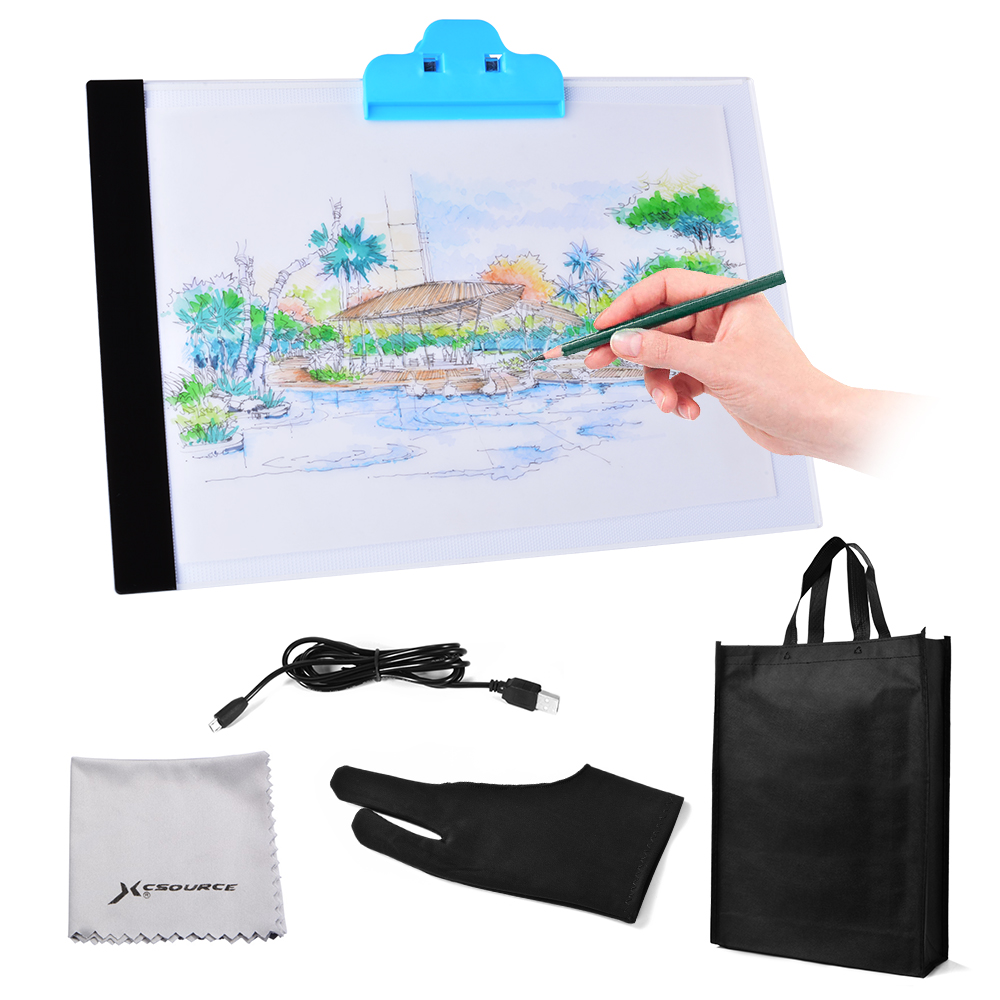 Craft light box for tracing - Ultra Thin A4 Led Art Copy Board Craft Tracing Drawing Table Pad Light Box Ah298