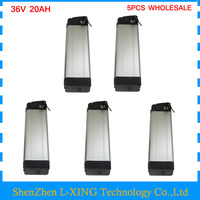 2PCS Wholesale 36v Electric Bike Battery 36v 20ah 1000W Silver Fish 36 V 20ah Battery Use