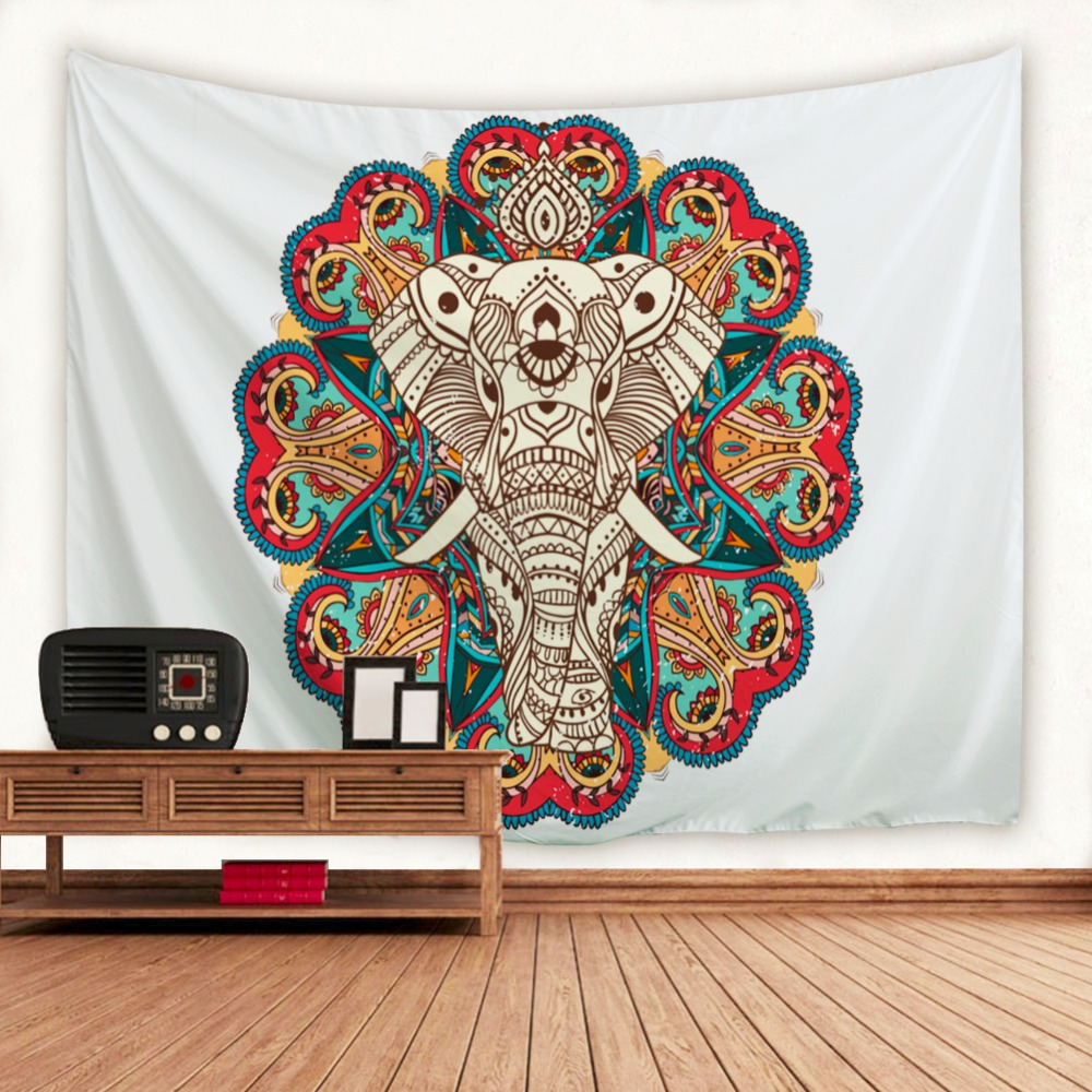 Elephant Wall Hanging aliexpress : buy datura white elephant wall tapestry indian