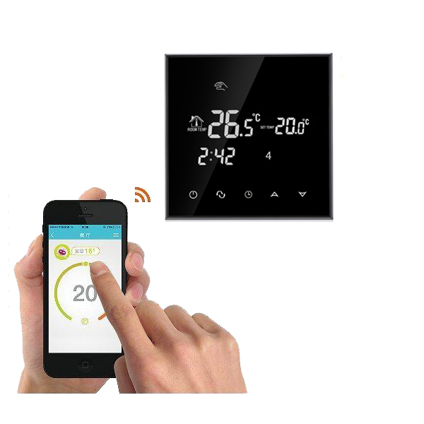 WiFi Touch Screen Room Thermostat For Electric Underfloor