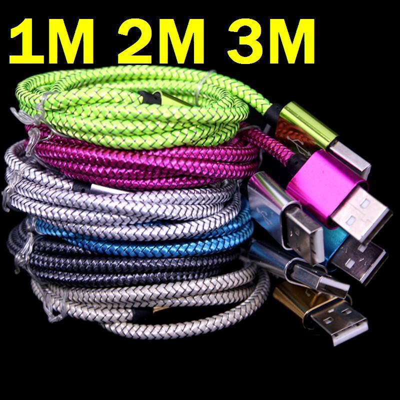 imágenes para 200 unids/lote 3 m 2 m 1 m de Espesor OD 4.5 Aleación De Aluminio de $ number pines usb paquetes de accesorios de Cable para el iphone 5 6 6 s 7 para el ipad mini