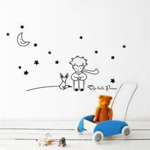 newest design Little Prince With Fox Moon Star home decor wall sticker