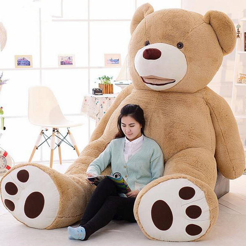 цены 1PC 160CM Soft USA Giant Bear Skin Plush Toy Whole Teddy Bear Coat Good Quality Doll Birthday Gift Present For Children Kid Girl