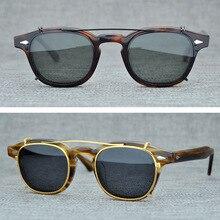 Vintage Steampunk Clip on Polarized Sunglasses Men Brand Retro Punk Round Sun Glasses Women Fashion Sunglass Man UV400 Oculos стоимость