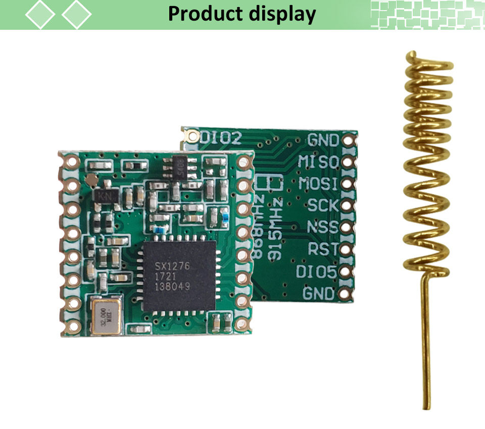 2pcs lorawan Transmitter Module With Original SX1276 Chip For Communication Receiver and Transmitter 7