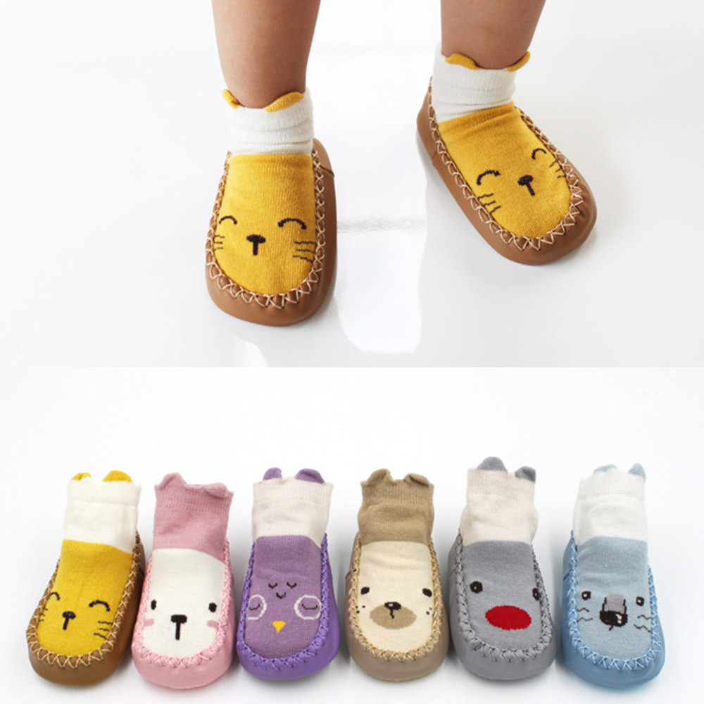 Toddler Baby Girl Boy Shoes First Walker Newborn Baby Cartoon Newborn Baby Girls Boys Anti-Slip Socks Drop Shipping