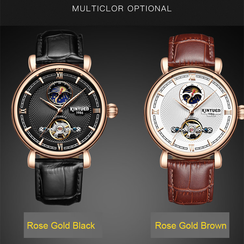 Business Fashion Casual Wristwatch Sports Luxury Dress Tourbillon Skeleton Watch Men Automatic Moon Phase Man Mechanical Watches forsining2018 fashion casual new luxury roman numeral dail with tourbillon men s watch wristwatch moon phase display skeleton wa