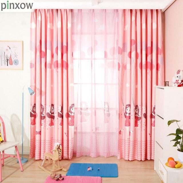 Pinxow dibujos animados niños dormitorio ventana Cortinas para la ...