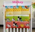 ¡ Promoción! gatito mickey 62*52 cm nueva marca de pañales organizador bedding set cuna colgar la bolsa de almacenamiento portátil