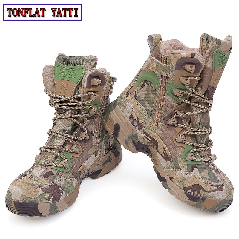 2018 Brand Military Tactical Combat Outdoor Sport Army Men Boots Desert Botas Hiking Autumn Shoes Travel Leather High Boots Male2018 Brand Military Tactical Combat Outdoor Sport Army Men Boots Desert Botas Hiking Autumn Shoes Travel Leather High Boots Male