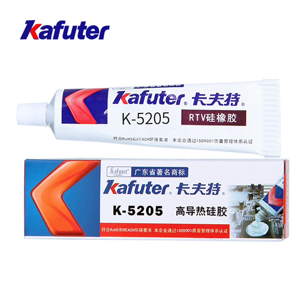 1PCS Kafuter K 5205 LED Thermal Conductive Silicone CPU Bonding Adhesive Thermal Silica Glue Adhesive Silicon Rubber Gel in Silicone Sealant from Home Improvement