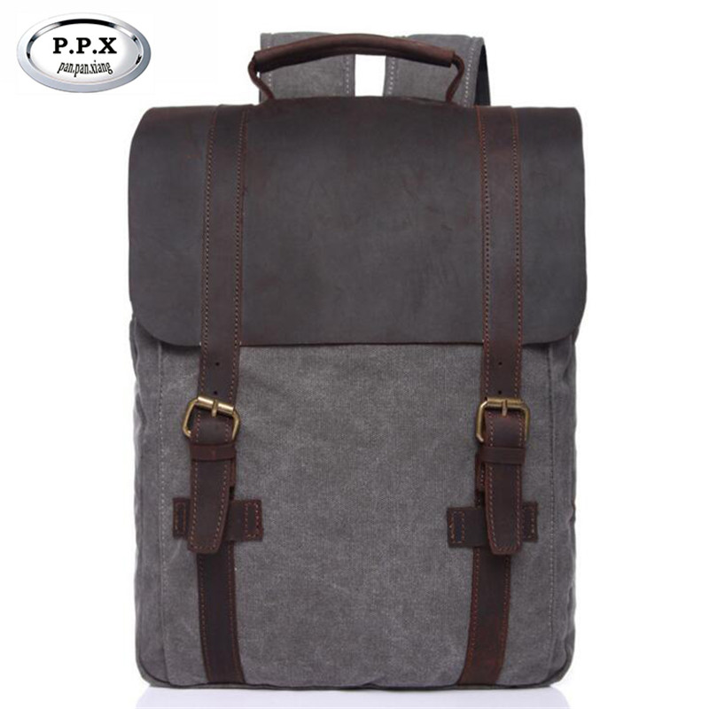 Vintage Wear-resisting Canvas Backpacks Large-capacity Schoolbags For Teenagers Casual Travel Bag Business Laptop Bag L129 multi function casual wear resisting nylon 35l computer bag large capacity travel bag school backpacks t0211