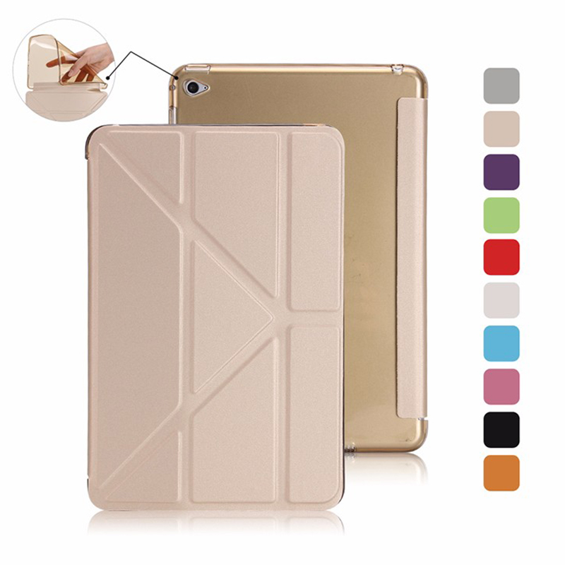 Smart Flip Case For iPad 6 PU Leather Stand Cover For Apple iPad Air 2 Silicon Soft TPU Case with Magnetic Auto Wake Up / Sleep for apple ipad air 2 case pu tpu cover ultra thin smart wake up sleep 9 7 inch for ipad 6 soft full protect stand case stylus