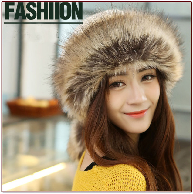 Free shipping Women winter thermal fur hat scarf due-use 5 color casual girl skullies Solid fur beanies caps