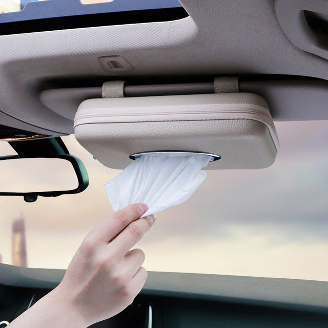 Car Sun Visor Type styling tissue box For Porsche Macan Cayenne Panamera  911 For Jaguar XE XF XJ For Infiniti Q50 FX35 G35 G37 69f152522aa