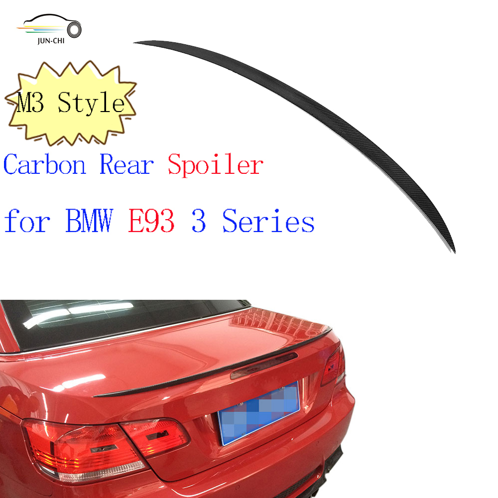 3 Series Carbon Fiber Rear Spoiler Wing for BMW E93 M3  2007 - 2013 Auto Car Tail Trunk Lid Boot Lip Wing Spoiler Car Cover car rear trunk security shield cargo cover for jeep compass 2007 2008 2009 2010 2011 high qualit auto accessories