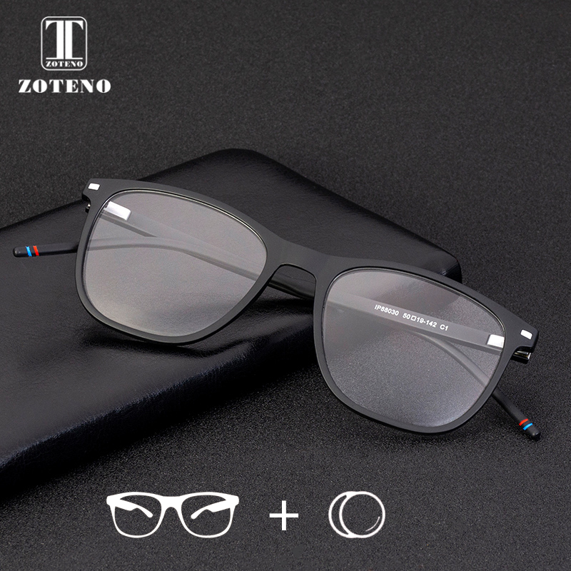 TR90 Prescription Glasses Men Rivet Photochromic Progressive Multifocal Anti Blue Ray Clear Optical Eyeglasses #88030(China)