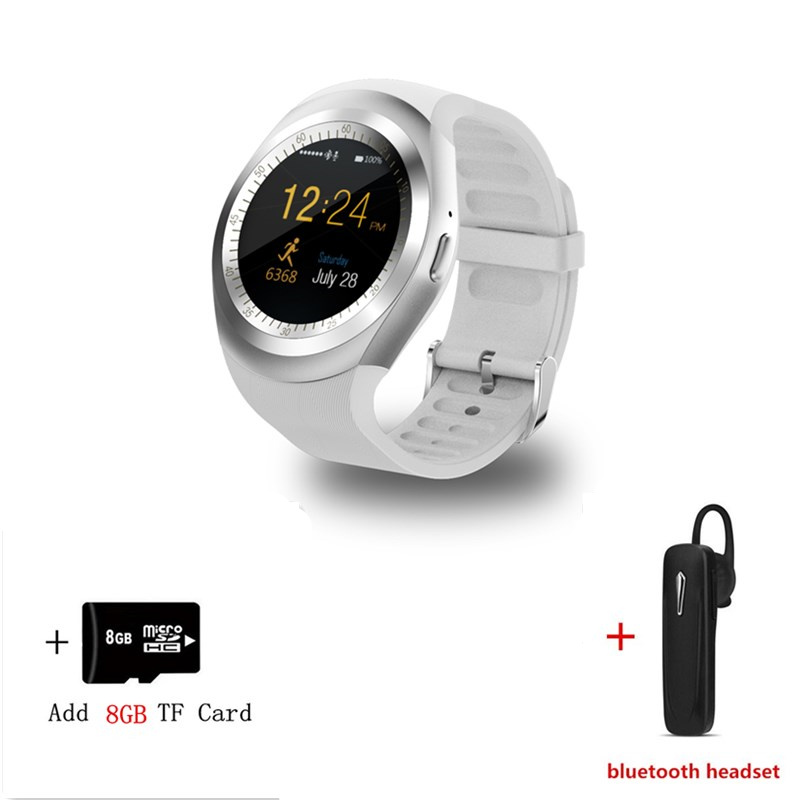 US $14 2 |Smart Watch Y1 2G SIM Whatsapp And Facebook BluetoothS martwatch  For Relogio watch IOS Android phone VS DZ09 samsung gear S3-in Smart