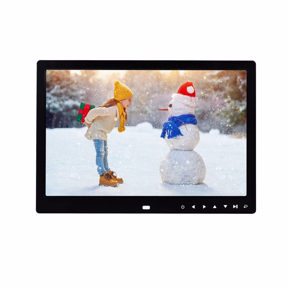 13 inch new arrival hot sales touch buttons infront loop playback picture video digital photo frame support SD card USB Drive13 inch new arrival hot sales touch buttons infront loop playback picture video digital photo frame support SD card USB Drive