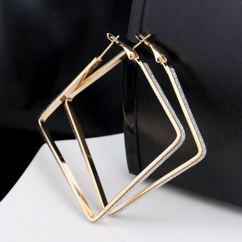 1 Paar Gold/silber Überzogene Große Creolen Für Frauen Vintage Steampunk Ohrring Für Hochzeit Damen Schmuck Geschenk Z101