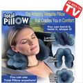 As Seen On TV Total Pillow -Jumbo Deluxe Set Memory Foam Pillow and Back Brace Supports Neck, Back and Knees for Supreme Comfort