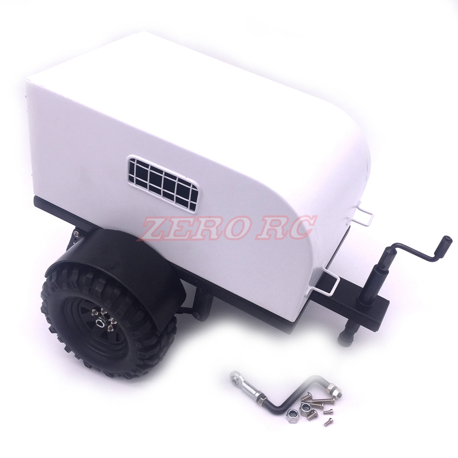 1 10 Scale Heavy Duty Steel Shed Trailer For RC Cars Crawler Truck SCX10 D90 TRX